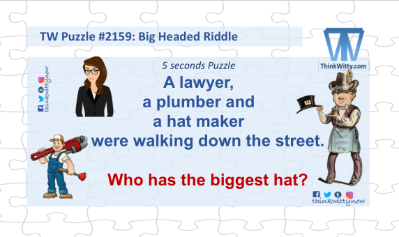 Puzzle 2159 thinkwitty.com - Big Headed RIddle