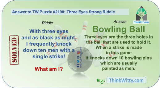 Answer to the Puzzle 2190 thinkwitty.com - Three Eyes Strong Riddle - Presence of mind