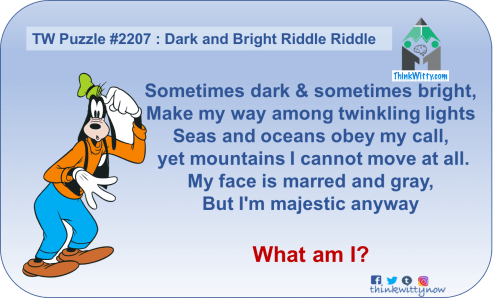 Puzzle 2207 thinkwitty.com - Dark and Bright Riddle - Presence of mind