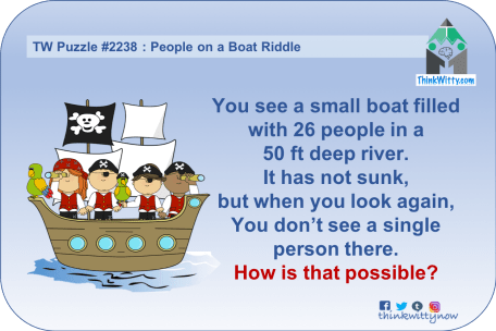 Puzzle 2237 thinkwitty.com - People on a Boat Riddle - Presence of mind
