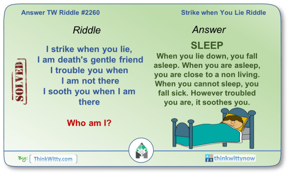 Answer to the Puzzle 2260 thinkwitty.com - Strike when You Lie Riddle