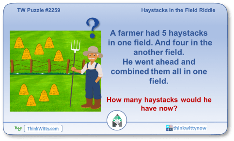 Puzzle 2259 thinkwitty.com - Haystacks in the Field Riddle