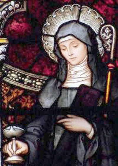 St. Brigid stained glass window