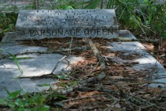 parsonage grave stone
