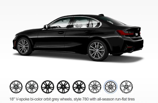 2019 BMW 3 Series wheels