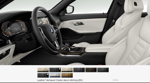 2019 BMW 3 Series Oyster interior