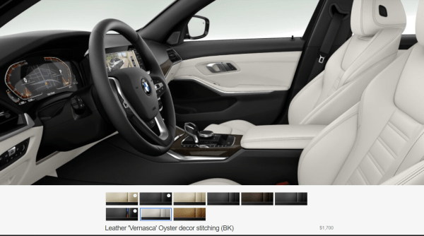2019 BMW 3 Series Oyster interior