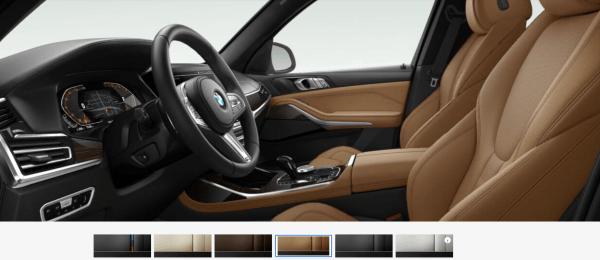 2019 BMW X7 Cognac Vernasca Leather