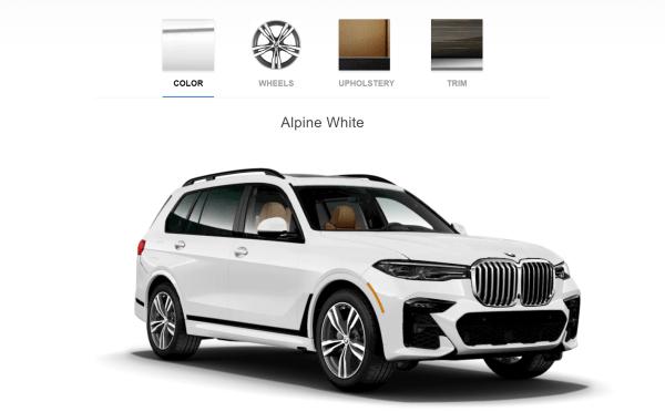 2019 BMW X7 M Sport Alpine White