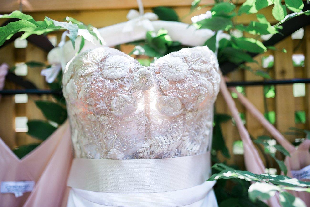 Calistoga Ranch Wedding Monique Lhuillier Gown