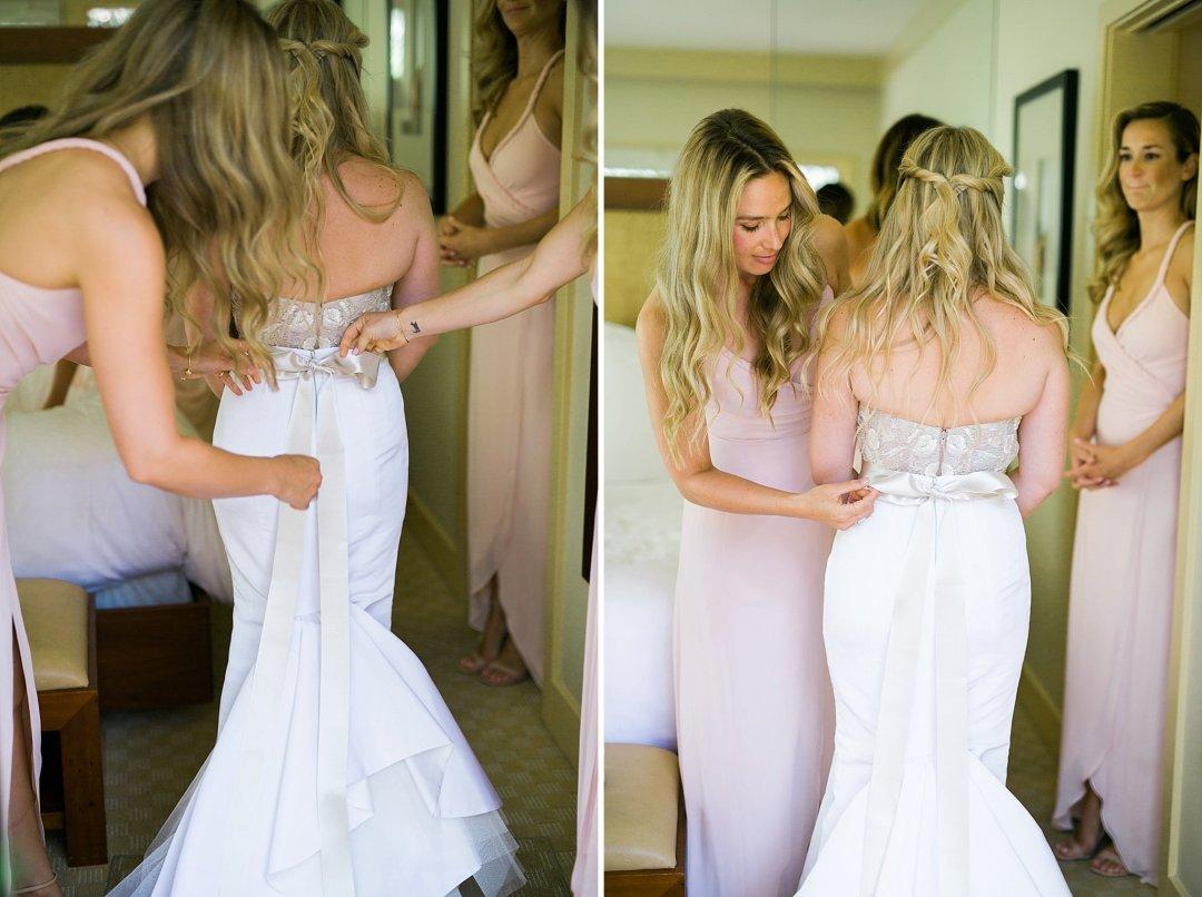 Calistoga Ranch Wedding Photos Monique Lhuillier Gown