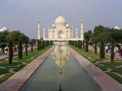 First sight of the Taj Mahal