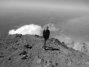 Climbing a volcano in Guatemala
