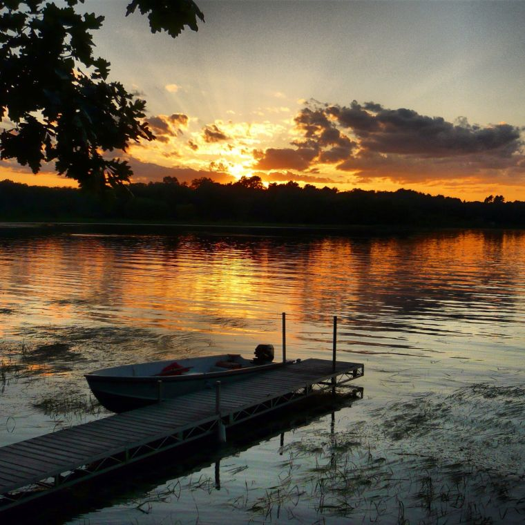Sunset over Roy Lake, Minnesota