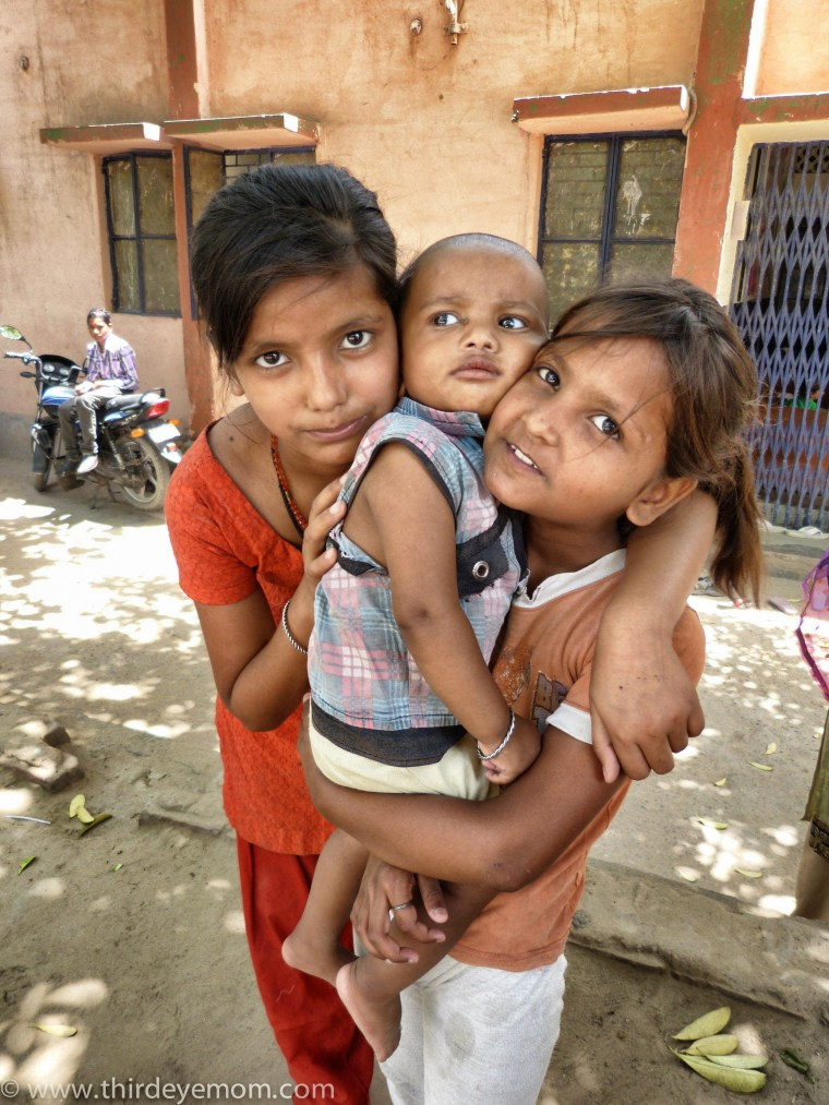 Beautiful children living in an unauthorized Delhi slum.