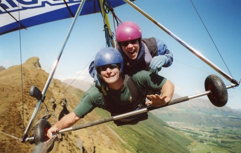Hang-gliding in Queenstown New Zealand
