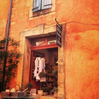 Quaint streets of Roussillon