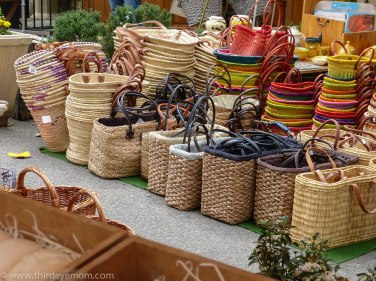 French handwoven baskets