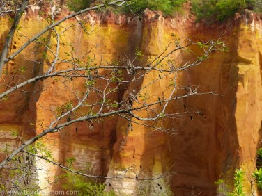 The red-hued rock of Roussillon France