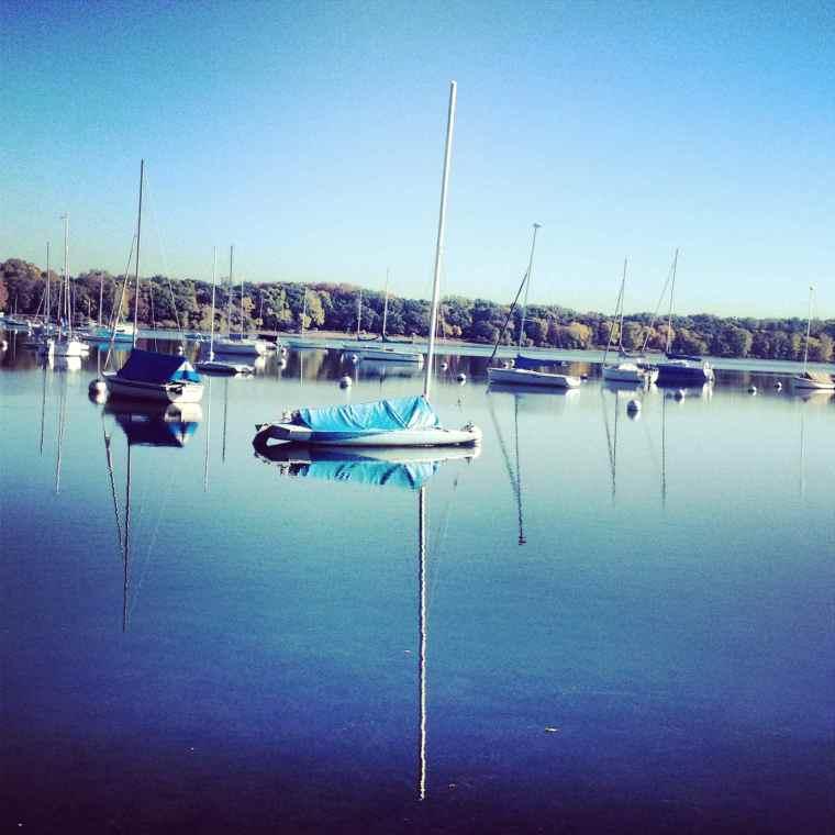 Sailboats on Lake Harriet Minneapolis Minnesota