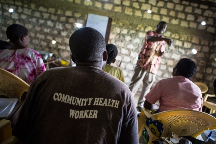 Community Health Care Worker Training. Photo credit: Mo Scarpelli