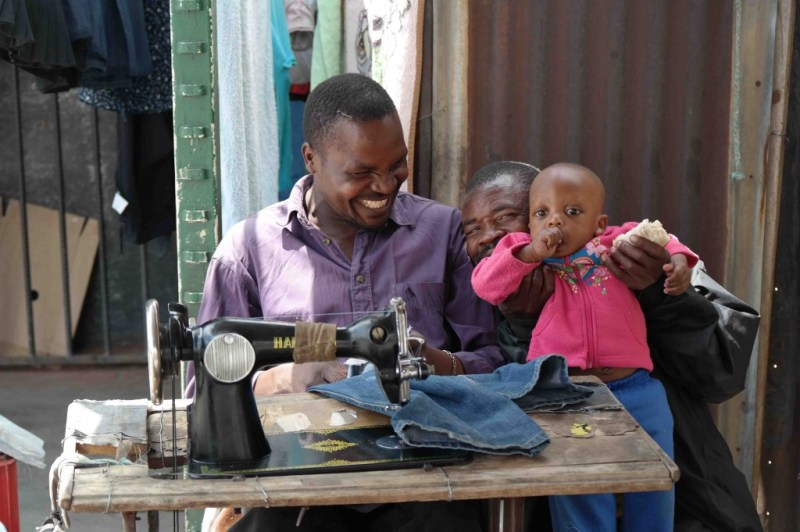 A roadside tailor in Alexandra Township
