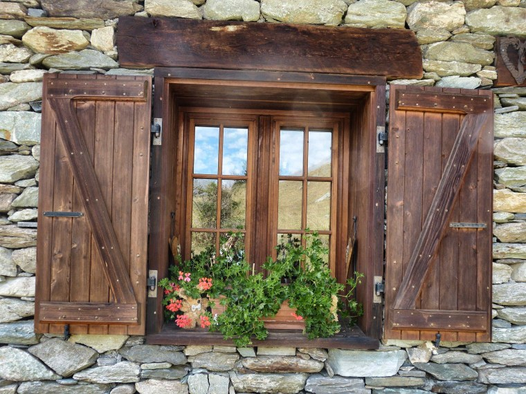 Windows in Savoie, France