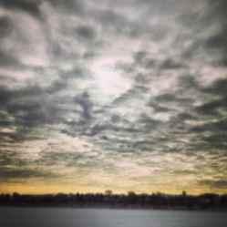 Winter sky on Lake Harriet