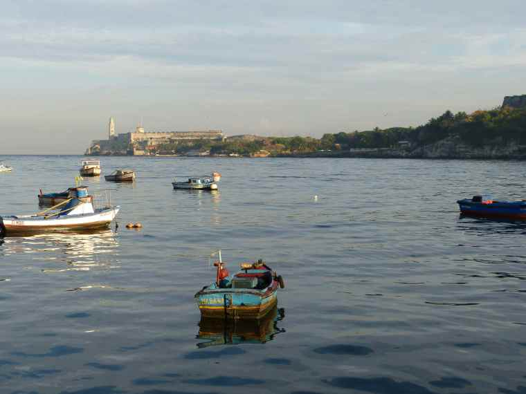 Fishing boats in Havana