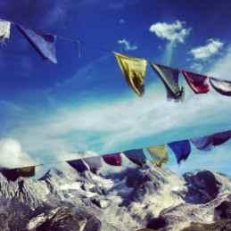 Tour de la Vanoise Prayer flags
