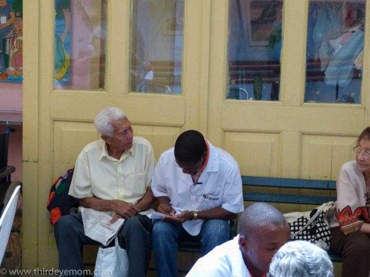Patients at the Casa de los Abuelos