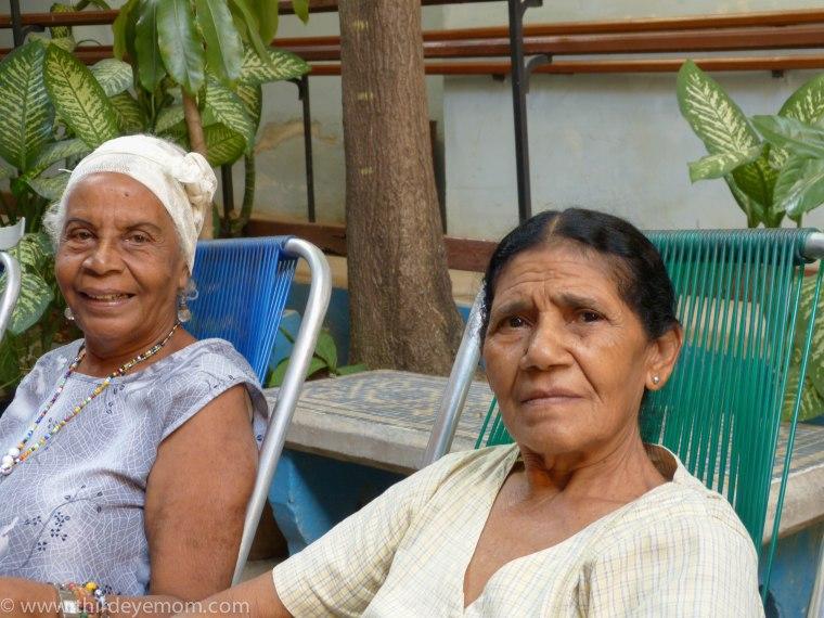 Patients at the Casa de los Abuelos Havana Cuba