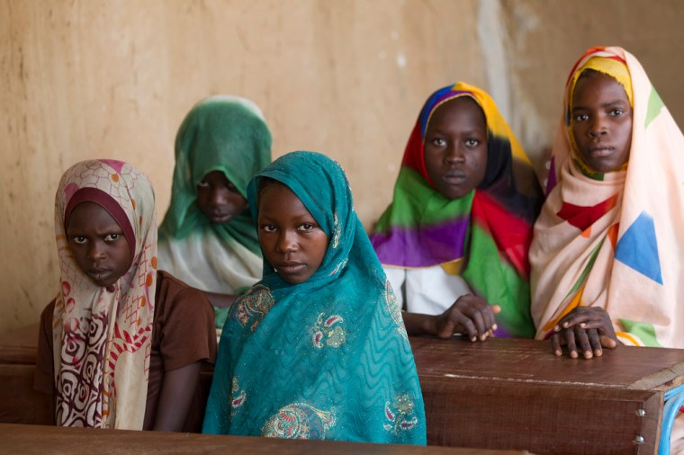 GlobalPartnership for Education Girls in class. Chad Education in Chad. Photo Credit: Educate a Child