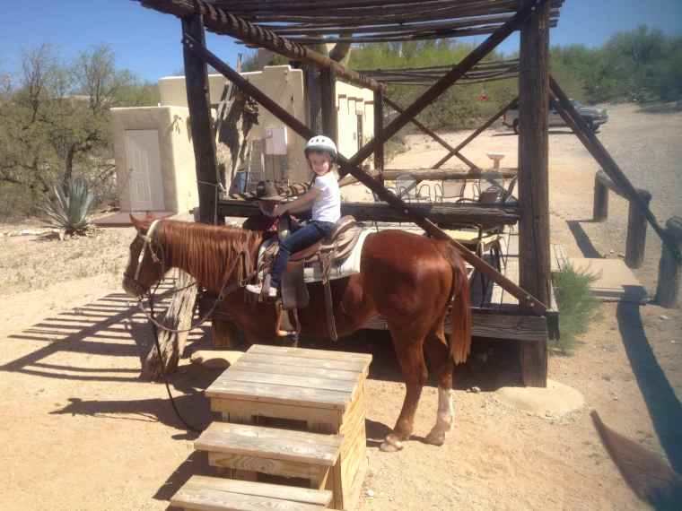 Sophia's first time horseback riding!