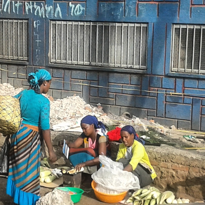 Women vendors along the streets of Addis Ababa.