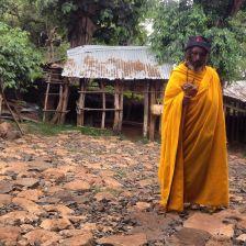 Monk at island monastery in Bahir Dar