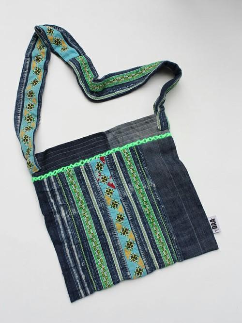 Hmong Textiles Denim Shoulder Bag