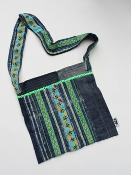 Hmong Textiles Denim Shoulder Bag