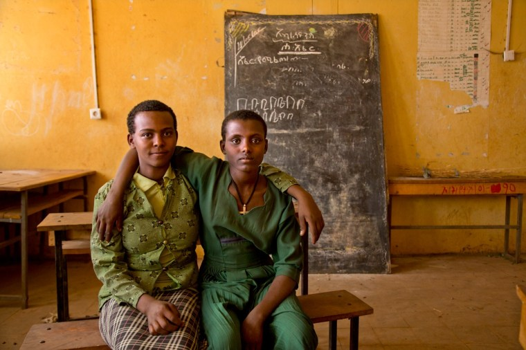Two of the girls who live near Bahir Dar that will help lead Too Young to Wed's new empowerment program. Photo credit: Stephanie Sinclair