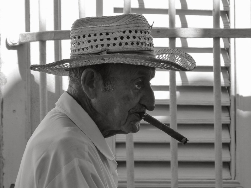 Cuban man in Trinidad