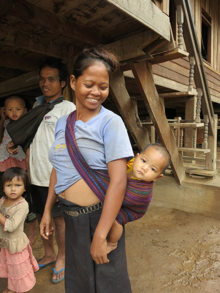 Mother and child in Laos. Photo Credit: Kristyn Zalota