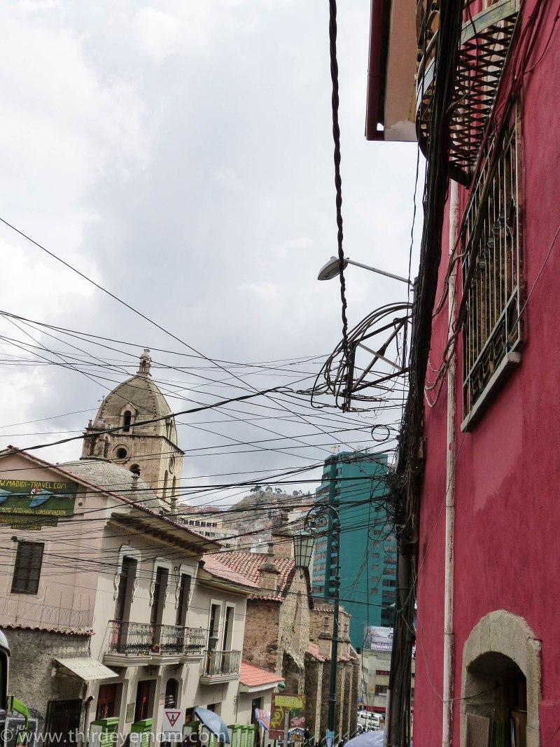 Buildings in La Paz Bolivia