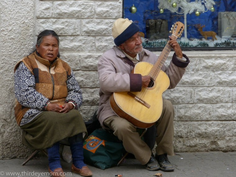 Street Music in La Paz, Bolivia
