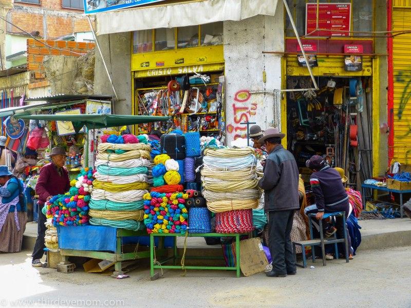 Black Market in La Paz, Bolivia