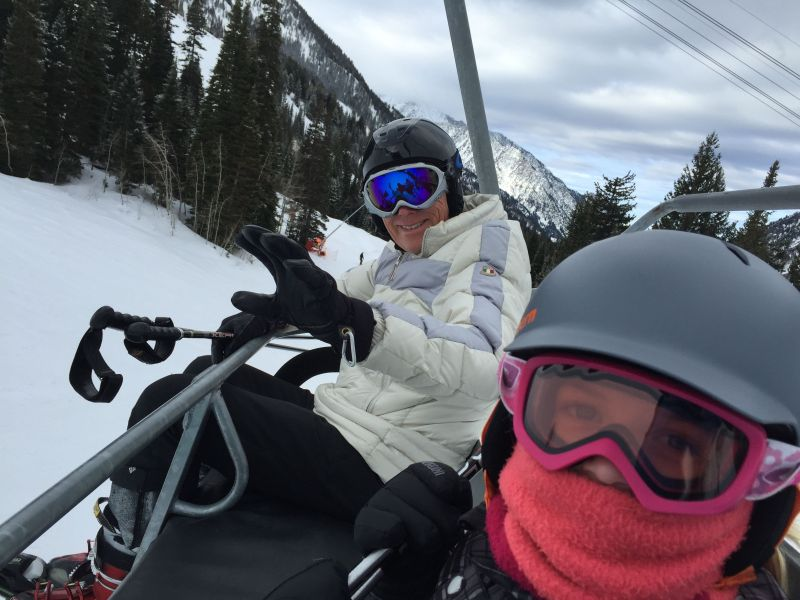 Riding the lift