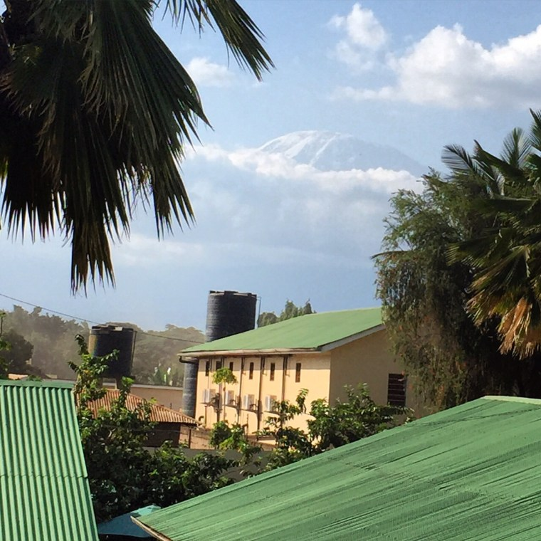 Mount Kilimanjaro view from Springlands hotel Moshi