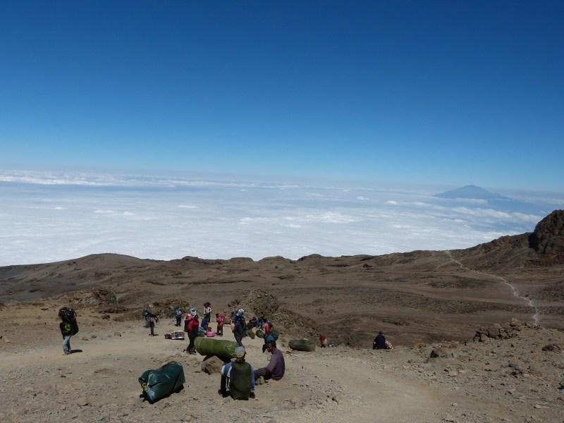 Going to Barafu Hut Machame Route Kilimanjaro
