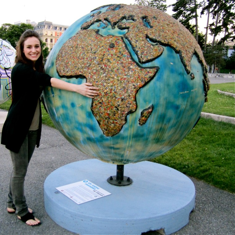 Elisabetta in Geneva where she participated in a study abroad program at the United Nations through NYU.