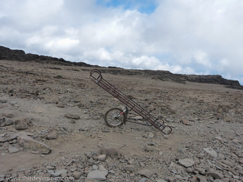 Descending Kilimanjaro