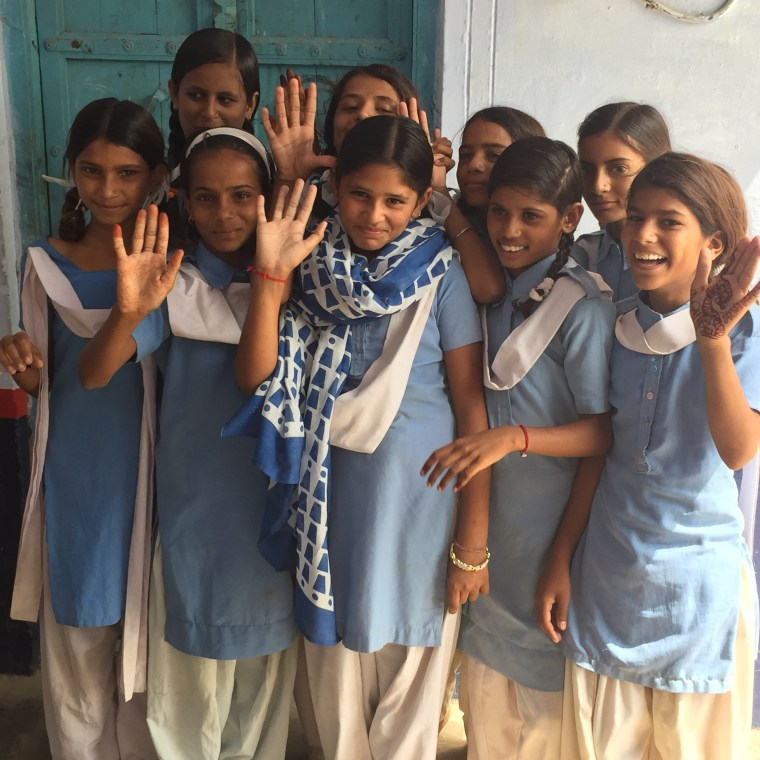 India Ajmer Bandarsinghri School Girls Education.